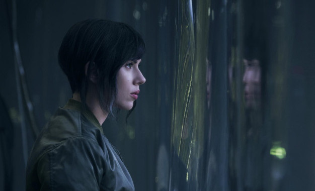 "Scarlett Johansson in ""Ghost in the Shell""."